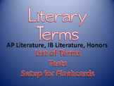 Literary Terms Tests (Set #1): AP Literature, IB and Honors