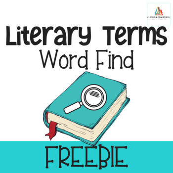Literary Terms Word Find Activity