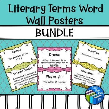 Literary Terms Word Wall Posters Bundle