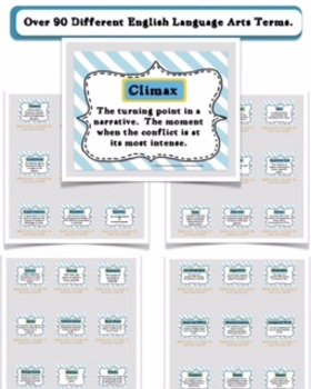 Literary Terms Word Wall Printouts (Every Literary Term Grades 3-8)