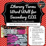 Literary Terms Word Wall for Secondary ELA - Polka Dots Ba