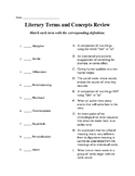 Literary Terms and Concepts Assessment