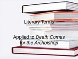 Literary Terms and Death Comes for the Archbishop