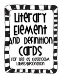 Literary Terms and Definition Cards