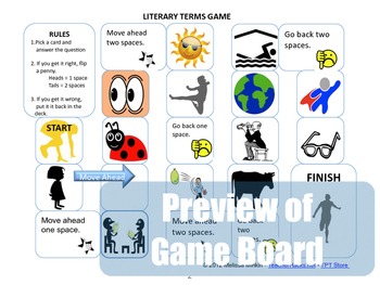 Literary Terms and Devices Board Game