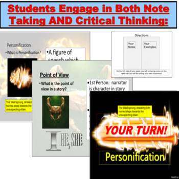 Literary Terms and Figurative Language PowerPoint: Like The Avengers