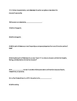 Literary Terms test