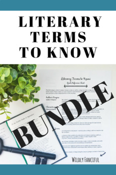 Literary Terms BUNDLE: Literary Terms to Know Glossary and Review Game