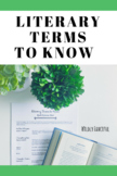 Literary Terms to Know: Glossary of Literary Terms and Lit