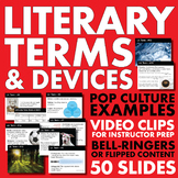 Literary Terms/Devices – 19 Weekly Lectures, Bell-Ringers or Flipped Content