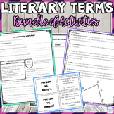Literary Terms, Figurative Language, and Story Elements Activities