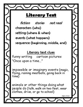 Literary Text Anchor Chart