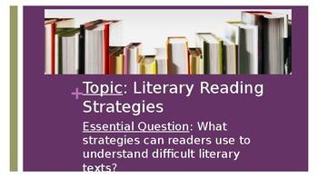 Literary Text Strategies (Reading Strategies) PowerPoint