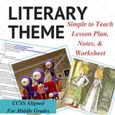 Literary Theme Lesson Plan & Worksheet