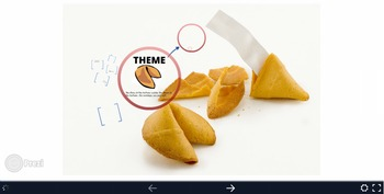 Literary Theme Fortune Cookie Prezi with Differentiated Craftivity