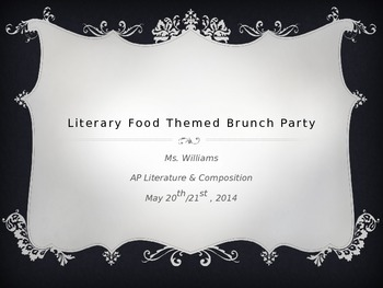 Literary Themed Lunch Party