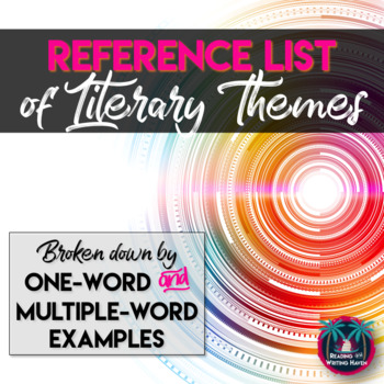 Literary Themes List: One Word and Multiple Word Examples (Grades 6-12)