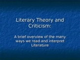 Literary Theory/Criticism Slide Show Presentation Analyzing Literature