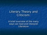 Literary Theory/Criticism Slide Show Presentation Analyzin