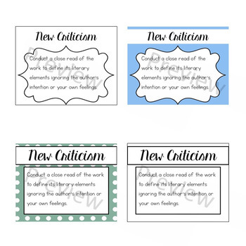 Critical Reading Mini-Posters