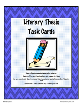 Literary Thesis Task Cards