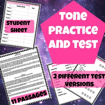 Literary Tone Practice and/or Test