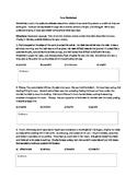 Literary Tone Worksheet