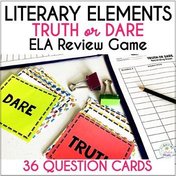 Literary Truth or Dare ELA Game: Literature Response