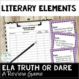 Literary Truth or Dare ELA Game: Literature Response