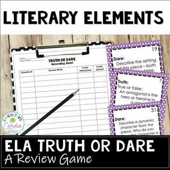 Literary Truth or Dare Review Game: Literature Response