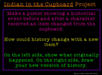 Literary Unit for Indian in the Cupboard (Chapters 1-8) for Promethean Board