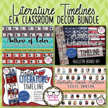 Literature Visual Timelines ELA Classroom Decor Bundle