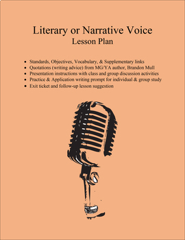 Literary or Narrative Voice PowerPoint & Lesson Plan