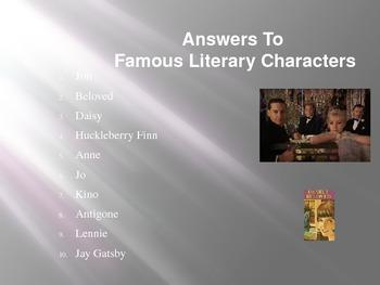 Literary Word Scramble