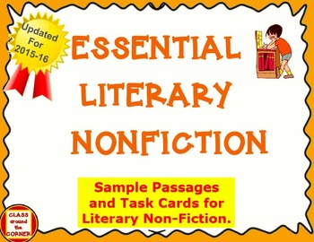Literary and Informational Text FREEBIE: 5 Reading Passages and Task Cards