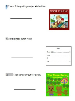 Literary and Informational Text Test for First Grade