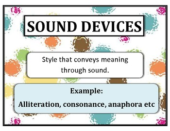 Literary and Sound Devices