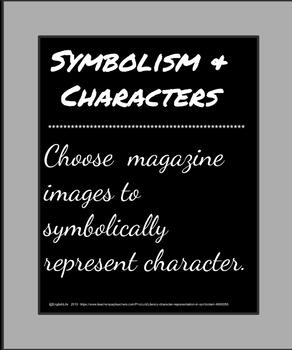 Literary character representation in symbolism