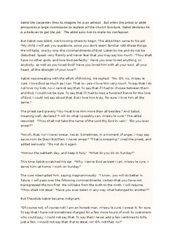 Literary comparison essay - the Ten Commandments.