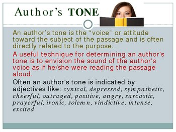 Literary concepts mood, tone, and syle