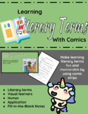 Learning Literary Terms with Comics