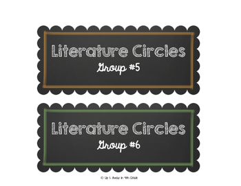 Literature Circle Labels