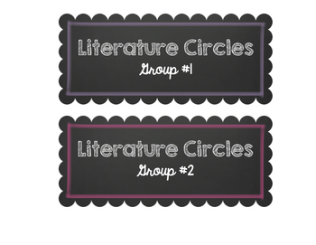Literate Circle Labels