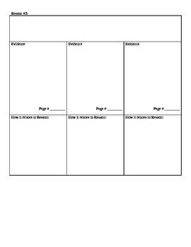 Literature 5 Paragraph Essay Graphic Organizer