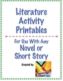 Literature Activities & Response Pack: Text Structures & Lit Elements