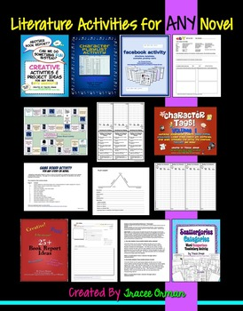 Literature Activities for ANY Novel or Story: 100+ Handouts