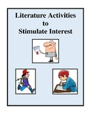 Literature Activities to Stimulate Interest - Worksheets