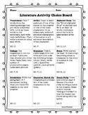 Literature Activity Choice Board