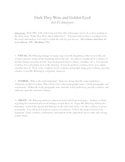 Dark They Were and Golden Eyed: Literature Analysis