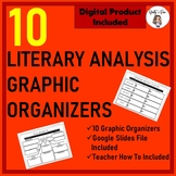Literature Analysis Graphic Organizers for ANY Novel or Sh